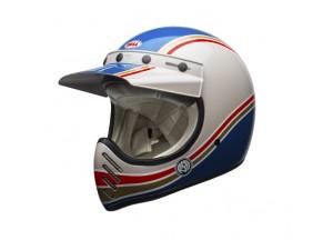 Helmet Bell Off-road Motocross Moto-3 Rsd Malibu Blue White