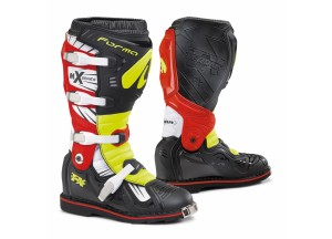 Boots Forma Off-Road Motocross MX Terrain TX  Black Yellow Fluo Red