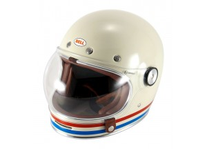 Helmet Full-Face Bell Bullitt DLX Stripes Pearl White