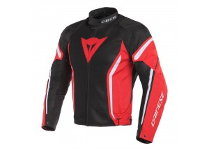 Jacket Dainese  Air Crono 2 Tex Summer Perforated Black/Red/White