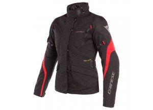 Waterproof Jacket Dainese Tempest 2 D-Dry Lady Black Black Red
