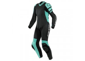 Motorbike Suit Leather Dainese Killalane 1 PC LADY Perforated Black Acqua-Green