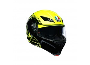 Helmet Flip-Up Full-Face Agv Compact St Detroit Fluo-Yellow Black