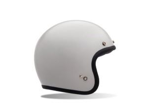 Helmet Jet Bell Custom 500 Solid Vintage White