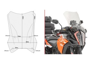 D7706ST - Givi Specific screen transparent Honda 1290 Super Adventure S17 >18