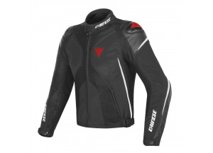 Motorcycle Jacket Man Dainese SUPER RIDER D-DRY Black/White/Red