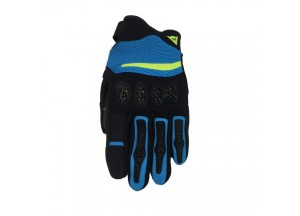 Motorcycle Gloves Dainese Aerox Unisex Black Blue Fluo-Yellow
