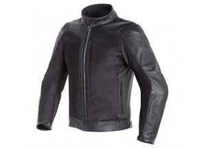 Leather D-dry Jacket Dainese Corbin Black /Black
