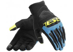 Motorcycle Gloves Dainese Bora Black Blue Fluo-Yellow