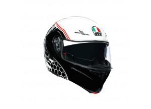 Helmet Flip-Up Full-Face Agv Compact St Detroit White Black