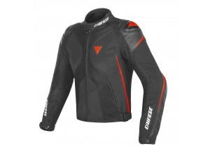 Motorcycle Jacket Man Dainese SUPER RIDER D-DRY Black/Red-fluo