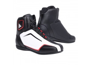 Motorcycle Shoes Man Dainese RAPTORS AIR Black/White/Red-Lava