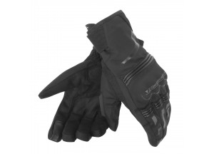 Motorcycle Gloves Dainese TEMPEST UNISEX D-DRY SHORT Black