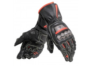 Motorcycle Gloves Man Dainese FULL METAL 6 Black/Red-Fluo
