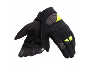 Motorcycle Gloves Dainese FOGAL UNISEX Black/Yellow-Fluo