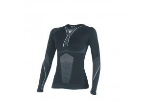 Technical Shirt Motorbike Woman Dainese D-CORE DRY TEE LS LADY Black/Bianco