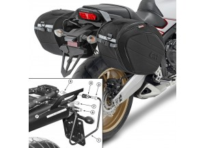 Saddle Bags Givi EA100B + Specific holder for Yamaha MT-03 600 (06 > 14)