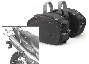 Saddle Bags Givi EA100B + Specific holder for Honda Hornet 600