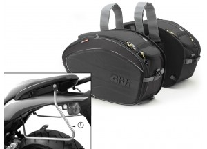 Saddle Bags Givi EA100B + Specific holder for Honda Hornet 600 (07>10)