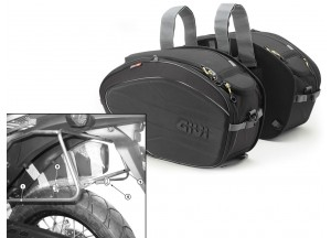 Saddle Bags Givi EA100B + Specific holder for Honda XL 700V Transalp (08>13)