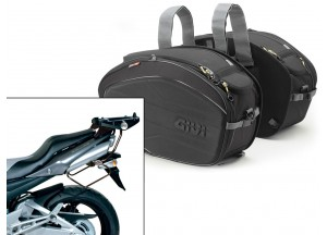 Saddle Bags Givi EA100B + Specific holder for Honda GSR 600 (06>11)