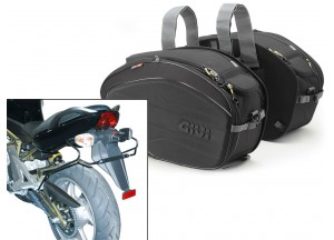 Saddle Bags Givi EA100B + Specific holder for kawasaki ER 6n/6f 650 (05>08)