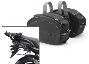 Saddle Bags Givi EA100B + Specific holder for Yamaha FZ6/Fazer (04>06)