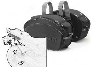 Saddle Bags Givi EA100B + Specific holder for Yamaha MT-09 Tracer (15 > 17)