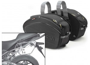 Saddle Bags Givi EA100B + Specific holder for Kawasaki Versys 650 (10 > 14)