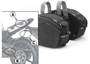 Saddle Bags Givi EA100B + Specific holder for Kawasaki ER-6n / ER-6f 650 (12>16)