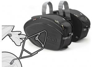 Saddle Bags Givi EA100B + Specific holder for Kawasaki Ninja 300 (13 > 16)