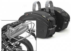 Saddle Bags Givi EA100B + Specific holder for Truimph Street Triple 675 (07>12)