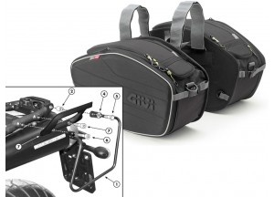 Saddle Bags Givi EA101B + Specific holder for Yamaha MT-03 600 (06 > 14)