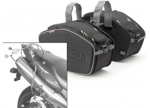 Saddle Bags Givi EA101B + Specific holder for Honda Hornet 600