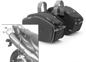 Saddle Bags Givi EA101B + Specific holder for Honda Hornet 600