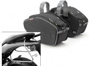 Saddle Bags Givi EA101B + Specific holder for Honda Hornet 600 (07>10)