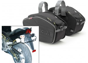 Saddle Bags Givi EA101B + Specific holder for kawasaki ER 6n/6f 650 (05>08)