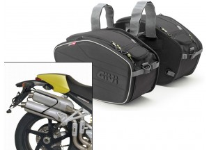Saddle Bags Givi EA101B + Specific holder for Ducati Monster (04>08)