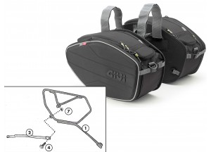 Saddle Bags Givi EA101B + Specific holder for Honda CB 1000 R (08 > 16)