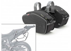 Saddle Bags Givi EA101B + Specific holder for Honda CB650 F / CBR650F (14 > 16)