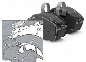 Saddle Bags Givi EA101B + Specific holder for Kawasaki ER-6n / ER-6f 650
