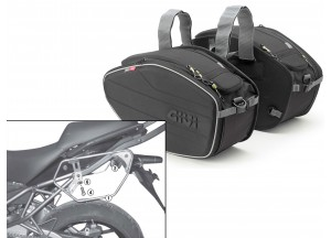 Saddle Bags Givi EA101B + Specific holder for Kawasaki Versys 650 (10 > 14)