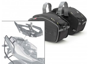 Saddle Bags Givi EA101B + Specific holder for Aprilia Shiver 750 / ABS (10 > 16)