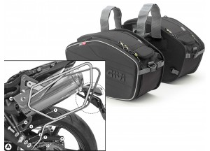 Saddle Bags Givi EA101B + Specific holder for Truimph Street Triple 675 (07>12)