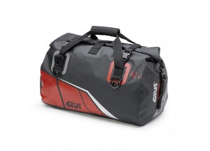 EA115BR - Givi Waterproof cylinder seat bag 40 ltr. with a black base and red