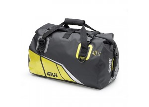 EA115BY - Givi Waterproof cylinder seat bag 40 ltr. with a black base and yellow
