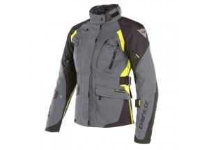Waterproof Jacket Dainese X-Tourer D-Dry Lady Ebony Black Fluo Yellow