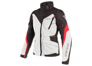 Waterproof Jacket Dainese Tempest 2 D-Dry Lady Grey Black Red