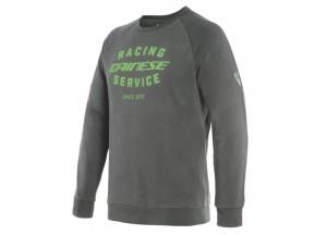 Sweatshirt Dainese PADDOCK Charcoal-Gray/Green