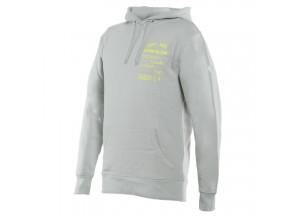 Dainese PADDOCK Hoodie Glacier-Gray/Fluo-Yellow